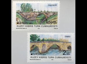 Zypern türkisch Cyprus Turkish 2018 Nr. 850-81 Europa Brückenmotive Bridges