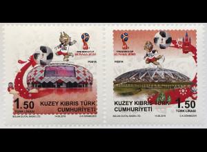 Zypern türkisch Cyprus Turkish 2018 Neuheit FIFA World Cup Russland Sport