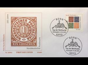Bund BRD Ersttagsbrief FDC Nr. 3412 13. September 2018 Tag der Briefmarke