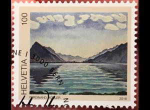 Schweiz 2018 Michel Nr 2560 100. Todestag von Ferdinand Hodler Gemälde Kunst