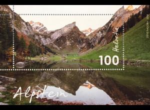 Schweiz 2018 Block 68 Alpstein Gebirge Alpen Berglandschaften Bergmassiv