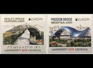Georgien 2018 Neuheit Europaausgabe Brückenmotiv Bridges Europacept