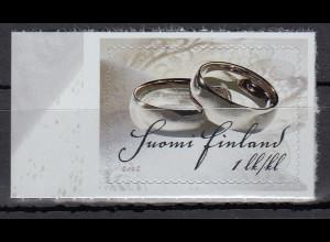 Finnland 2012 Michel Nr. 2165 Hochzeitsgrüße Motiv Trauringe