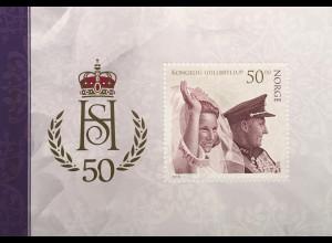 Norwegen 2018 Neuheit Goldene Hochzeit des Königspaars Königin Harald Sonja Adel