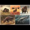 Belgien 2018 Neuheit Prähistorische Tiere Mammut Elch Dinosaurier Mosasaurus