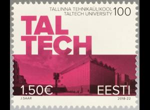 Estland EESTI 2018 Nr. 931 100 Jahre technische Universität in Talinn Schule