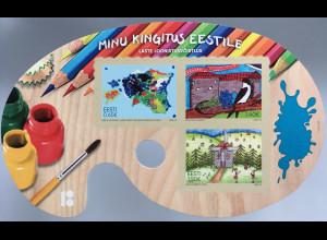 Estland EESTI 2018 Block 44 Zeichenwettbewerb für Kinder Schöne Blockform
