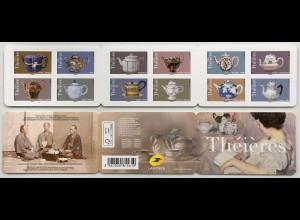 Frankreich France 2018 Michel Nr. 7100-7111 Teekannen aus aller Welt England