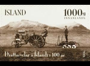 Island Iceland 2018 Neuheit Akranes Traktor Landwirtschaft Fuhrpark