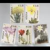 Kosovo 2018 Neuheit Flora Blumen Edelweiß Krokus Holunder Stiefmütterchen