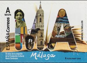 Spanien España 2018 Nr 5276 Freimarken Malaga Tourismus Hafenstadt Costa del Sol