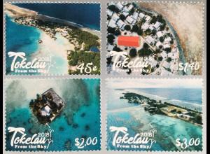 Tokelau Inseln 2018 Neuheit Tokelau von oben Meer Strand Naturansichten