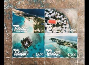 Tokelau Inseln 2018 Neuheit Tokelau von oben Meer Strand Naturansichten Block