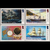 Tristan da Cunha 2018 Nr. 1306-09 Segelschiff Maple Clark Schiffsunglück