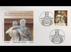 Bund BRD Ersttagsbrief FDC Nr. 3416 Schätze aus deutschen Museen Skulpturen
