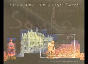 Litauen Lithuania 2018 Block 60 Sarunas Sauka Gemälde Postmoderner Maler Kunst