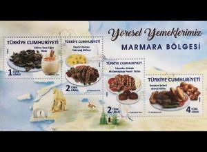 Türkei Turkey 2018 Block 181 Lokale Gerichte Kebab Marmara Bölgesi Joghurt