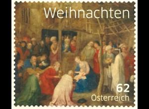 Österreich 2014 Michel Nr 3175 Weihnachten Anbetung der Könige Jan Bruegel Kunst