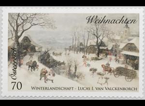 Österreich 2014 Michel Nr 3173 Weihnachten Winterlandschaft Gemälde Valckenborch