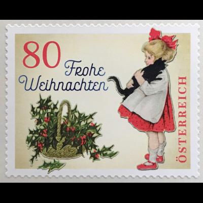 Österreich 2018 Nr. 3442 Weihnachtsmarke Vintage Kind Mistelzweig Rollenmarke