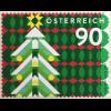 Österreich 2018 Nr. 3439 Weihnachtsmarke modern mit Tannenbaum Rollenmarke