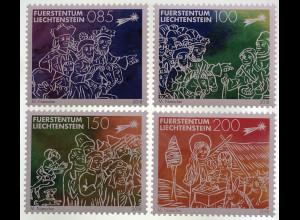 Liechtenstein 2018 Nr. 1927-30 Traditionelle Weihnachtsmarken Friede auf Erden