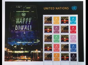 Ver. Nationen UN UNO New York 2018 Nr. 1696-1705 Diwali Beliebtes Lichterfest