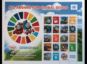 Ver. Nationen UN UNO New York 2018 Klbg. 1672-81 Lok Thomas und seine Freunde