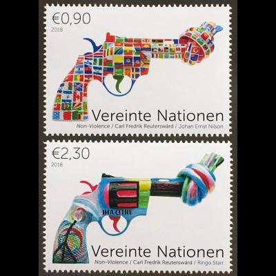 Vereinte Nationen UN UNO Wien 2018 Nr 1041-42 Dauermarken Non Violence Gewaltlos