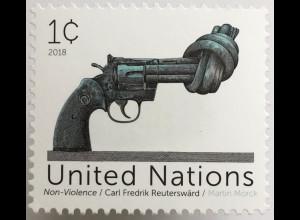 Vereinte Nationen UN UNO New York 2018 Nr 1695 Dauerserie Non Violence Gewaltlos