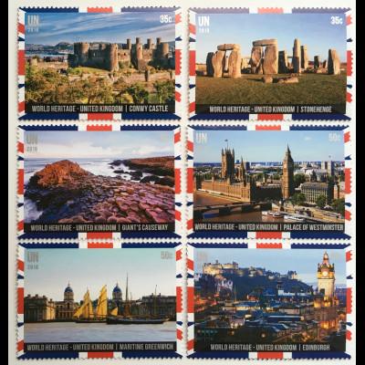 Vereinte Nationen UNO New York 2018 Nr1666-71 Welterbe Großbritannien Nordirland