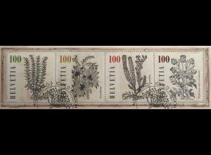 Schweiz 2018 Block 69 Heilpflanzen Botanik Zeichnungen Pietro Andrea Mattioli