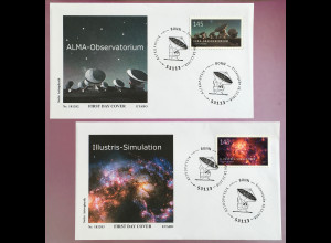 Bund BRD Ersttagsbrief FDC Nr. 3425-26 18. Dezember 2018 Astrophysik