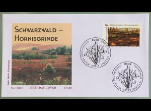 Bund BRD Ersttagsbrief FDC Nr. 3428 18. Dezember 2018 Schwarzwald Hornisgrinde