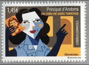 Andorra spanisch 2018 Nr. 473 25. Kurs der Fremdenführer Tourismus Moderne Kunst
