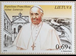 Litauen Lithuania 2018 Nr 1291 Papstbesuch Kirchenoberhaupt Papstreisen