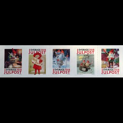 Schweden Sverige 2018 Neuheit Historische Weihnachtsmarken aus Markenheft