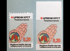Bosnien Herzegowina Serbische Republik 2018 Nr. 43 Zwangszuschlag TBC