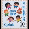 Serbien Serbia 2018 Neuheit Kinderwoche Zwangszuschlagsmarke