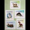 Slowenien Slovenia 2018 Neuheit Freimarken Tiere Luchs Hase Otter Marder