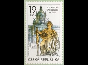 Tschechische Republik 2018 Nr 999 200 Jahre Nationalmuseum Kunstmuseum Statue