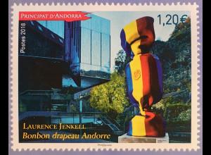 Andorra französisch 2018 Nr. 839 Kunstausgabe Skulptur von Laurence Jenkell