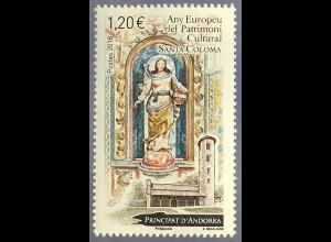 Andorra französisch 2018 Nr. 838 Europäisches Jahr des Kulturerbes Marienstatue