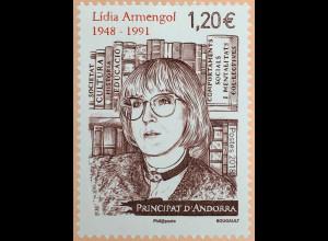 Andorra französisch 2018 Nr. 841 70. Geburtstag von Lídia Armengol