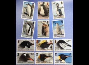 Britische Antarktis BAT 2018 Nr. 789-800 Freimarken Pinguine Tiere Fauna