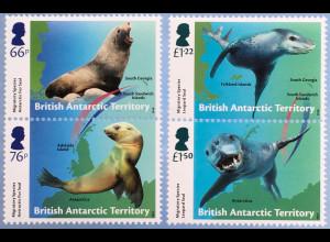 Britische Antarktis BAT 2018 Nr. 785-788 Robben Tiere Fauna