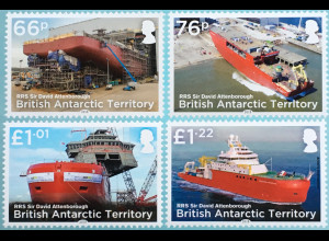 Britische Antarktis BAT 2018 Nr. 781-784 Forschungsschiff RRS Sir Attenborough