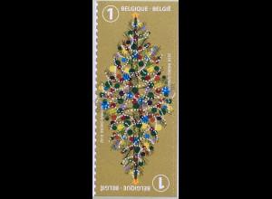 Belgien 2018 Neuheit Weihnachsmarke aus Markenheft Local selbstklebend