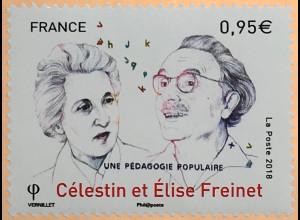 Frankreich France 2018 Nr. 7186 100 Jahre Freinet-Pädagogin Elise Célestin