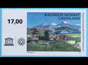Grönland 2018 Neuheit UNESCO- Ausgabe Steinmonument